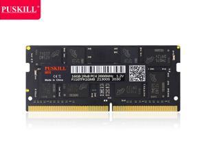 PUSKILL DDR4 2666MHz SODIMM RAM PC4-21300 16G 1.2V CL19 260 Pin Support ECC Unbuffered Laptop Memory Notebook RAM Module for Mac Intel and AMD System