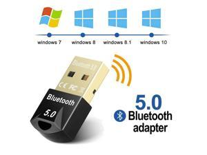 USB Bluetooth 5.0 Adapter for PC Win10/8.1/8/7/XP/Vista  Bluetooth Dongle Computer Desktop Wireless Transfer for Laptop Bluetooth Headphones Headset Speakers Keyboard Mouse Printer