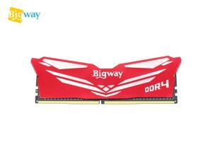 Bigway 16GB 2400MHz DDR4 CL17 1.2V DIMM Desktop Memory Single Stick with Heatsink for Intel AMD System Desktop Computer