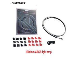 Phanteks NEON Digital-RGB LED Strip M1 (PH-NELEDKT_M1) Meter Smooth Lighting Strip, Full-Color Range, Flexible mounting 5V 3PIN ARGB Symphony Programmable LED Strip-1000mm