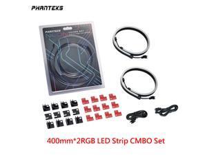 Phanteks NEON Digital-RGB LED Strip CMBO (PH-NELEDKT_CMBO) Meter Smooth Lighting Strip, Full-Color Range, Flexible mounting 5V 3PIN ARGB Symphony Programmable LED Strip-400mm*2