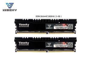 Vaseky Knight Desktop Ram Memory DDR4 16GB Kit (2x8GB) 2666MHz PC4-21300 Desktop RAM CL19 Unbuffered Non-ECC1.2V 288 Pin  U-DIMM  Memory for Intel AMD System Desktop Computer