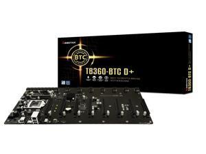 Biostar TB360-BTC D+ LGA1151 SODIMM DDR4 8 GPU Support GPU ATX Motherboard for Cryptocurrency Mining (BTC)