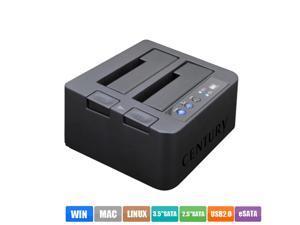 "CENTURY USB 3.0 (6Gbps) Hard Drive Duplicator Dock for 2.5"" & 3.5"" SATA SSD HDD Hard Disk Duplicator Offline clone system to copy SATA Serial Hard Disk Box Base Cloner (CROS2EU3CP6G2),Black"