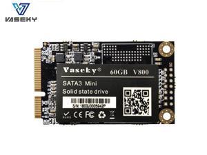 Vaseky Mini SATA SSD 1.8 Inch mSATA SSD 480G 240G 120G 60G Hard Drive Silent SSD MLC Storage Grain Solid State Drive for Desktop Laptop Ultrabook All in One PC(mSATA 60GB)