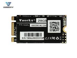 Vaseky M.2 SSD 2242 NGFF SATA SSD 265GB 128GB 64GB SSD B key+M key Internal Solid State Drive Silent (SSD) MLC Storage Grain for Desktop Laptop Ultrabook All in One PC (2242 256GB)