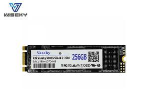 Vaseky M.2 SSD 2280 NGFF SATA SSD 512GB 265GB 128GB 64GB SSD Internal Solid State Drive Silent (SSD) MLC Storage Grain for Desktop Laptop Ultrabook All in One PC (2280 256GB)