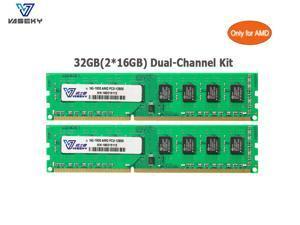 Vaseky AMD RAM 32GB(2*16GB) Kit DDR3 Memory 1600 MHz AMD Edition Memory DDR3 1600 (PC3 12800) Desktop Memory Model Only for AMD Desktop