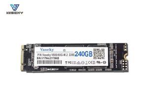 Vaseky M.2 SSD 2280 NGFF SATA SSD 512GB 265GB 240GB 128GB 64GB SSD Internal Solid State Drive Silent (SSD) MLC Storage Grain for Desktop Laptop Ultrabook All in One PC (2280 240GB)
