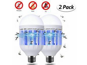 2x E27 Light Mosquito Zapper LED Lightbulb Bug Fly Insect Killer Bulb Lamp Home