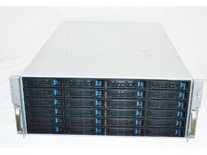 4U Rackmount Server Case with 24 Hot-Swappable SATA/SAS Drive Bays 12GB Expansion Chip Backplane