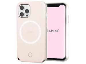 LuMee HALO by Case-Mate - Light Up Selfie Case for iPhone 12 and iPhone 12 Pro (5G) - Front & Rear Illumination - 6.1 Inch - Millennial Pink