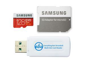 Samsung 128GB Micro SDXC EVO+ Plus Memory Card for Samsung Phone Works with Galaxy S20, S20+, S20 Ultra 5G, S10 Lite Phone (MB-MC128HA) Bundle with (1) Everything But Stromboli MicroSD Card Reader