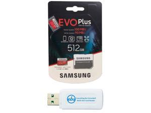 Samsung 512GB Evo+ Class 10 MicroSD Memory Card for Samsung Tablet Works with Galaxy Tab Active Pro, Tab S6 Lite, Tab A 8.4 2020 (MB-MC512HA) Bundle with (1) Everything But Stromboli Micro Card Reader