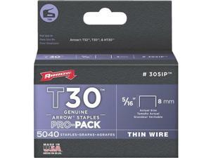 6 Pk Arrow T30 High-Performance Pro-Pack Thin Wire Staple, 5/16 In. (5040-Pack)