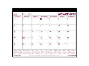 Brownline 2014 Monthly Desk Pad, Refill and Holder, 24.25 x 19.12 Inches (C191924)