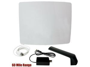 60 Miles Active HDTV Antenna Amplified Curved Outdoor Digital UHF TV HD 1080p