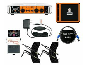 Orange Amplifiers OB1-500 + OBC115 Cabinet + Tuner + Power Supply + Cables