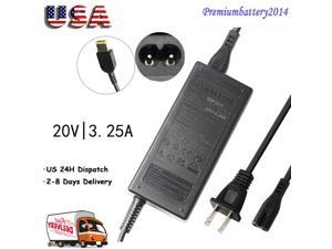 20V 65W AC Adapter For Lenovo Power Supply Cord Charger  Thinkpad X1 Carbon Win ...