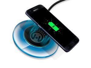 HyperGear UFO Qi Wireless Charging Pad Compatible for iPhone 11 Pro,11 Pro Max, Xs Max, XR, Xs, X, 8, 8+, Galaxy S10 S9 S8, Note10 Note9 Note8 & More