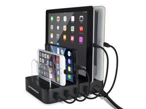 HyperGear Universal 4-Port Charge & Docking Station, Compatible for SE, XS Max, XR, XS, X, 8, 8+, Galaxy S10, S9, S8, Note 10 Note 9 Note 8 & More