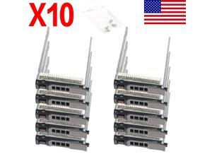 """10X Hard Drive 2.5"""" Hdd Tray Caddy For Dell M620 M420 M520 M820 Blade Server"""