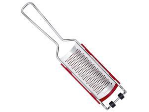triangle Germany Fine Grater with Removable Catcher, Professional-Grade, Ultra Sharp Stainless Steel Blades Finely Shred, Innovative Compact Design Minimizes Waste and Messes