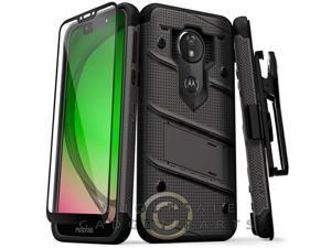 Motorola Moto G7 Play Bolt Case W/Stand - Gun Metal Gray/Black