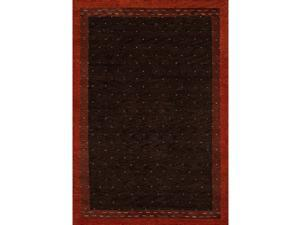 """Momeni Rugs Desert Gabbeh Collection, 100% Wool Hand Knotted Contemporary Area Rug, 96"""" x 136"""", Brown"""