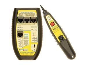 Triplett Byte Brothers LAN Cable Tester RJ45 CAT5 CAT6 Base-T for Hubs, Switches, PCs, and Cables with 4 Tests: Advertised Speed and PoE, Negotiated Speed and PoE, Test Cables, Trace Cables (TVR10/10
