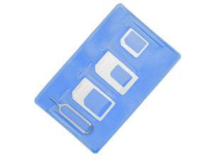 Samdi Sim Card Adapter Kit Includs Nano Sim Adapter/Micro Sim Adapter/Needle/Storage Sheet(Sim Card Holder),Easy to Use and Storage Without Losing Them (Blue-White)