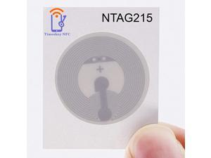 Timeskey NFC 10PCS NTAG 215 NFC Stickers NXP NTAG215 NFC Tags 100% Compatible with TagMo and Amiibo, 504 Bytes Memory Fully Programmable