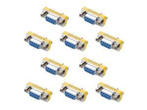 DB9 Mini Gender Changer - iGreely 10Pack 9 Pin RS-232 DB9 Female to Female Serial Cable Coupler Adapter