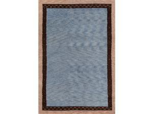 """Momeni Rugs Desert Gabbeh Collection, 100% Wool Hand Knotted Contemporary Area Rug, 53"""" x 8, Slate"""