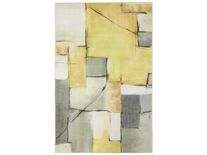 Mohawk Home Prismatic Painted Geo Abstract Patchwork Printed Contemporary Area Rug, 8x10,