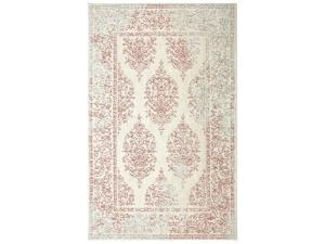 Mohawk Berkshire Paxton Distressed Ornamental Woven Soft Shag Area Rug, 5x8, Coral