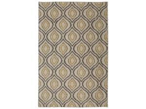 Mohawk Home Laguna Ogee Waters Tan Geometric Contemporary Shag Area Rug, 5 x 8, Tan and Grey