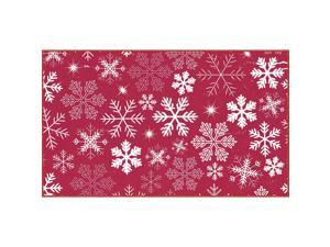 Mohawk Home Snowflakes Red Area rug, 16x26