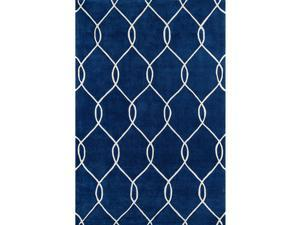 Momeni Rugs Bliss Collection, Hand Carved & Tufted Contemporary Area Rug, 2 x 3, Navy Blue