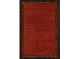 """Momeni Rugs Desert Gabbeh Collection, 100% Wool Hand Knotted Contemporary Area Rug, 96"""" x 136"""", Paprika"""