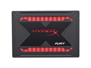"HyperX Fury RGB SSD 240GB Mounting Bundle Kit SATA 3 2.5"" Solid State Drive Black Case with Multi-Color RGB SHFR200B/240G"
