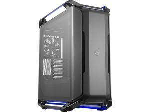 Cooler Master Cosmos C700P Black Edition E-ATX Full-Tower with Curved Tempered Glass Panel, Flexible Interior Layout, Type-C Port & RGB Lighting Control