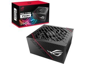 ASUS ROG Strix 750 Fully Modular 80 Plus Gold 750W ATX Power Supply with 0dB Axial Tech Fan and 10 Year