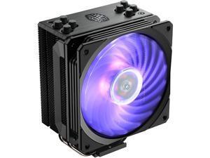 Cooler Master Hyper 212 RGB Black Edition CPU Air Cooler, SF120R RGB Fan, 4 CD 2.0 Heatpipes, Anodized Gun-Metal Black, Brushed Nickel Fins, RGB Lighting for AMD Ryzen/Intel LGA1200/1151