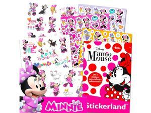 Minnie Mouse Stickers & Tattoos Party Favor Pack (Bundle with 200 Stickers & 50 Temporary Tattoos)