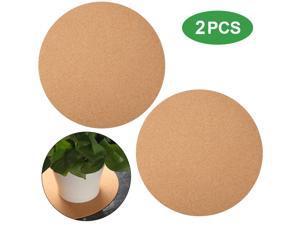 2 Packs 12 Inch Cork Coaster Round Cork Mat Soft Corkboard Mat Absorbent Planter Saucers for Kitchen Hot Pads, Pots, Pans, and Kettles and DIY Crafts Supplies