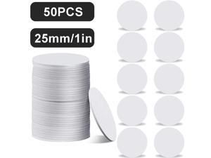 50 Pieces 215 NFC Card Tag Blank White PVC Card NFC Coin Cards Compatible with Tagmo Amiibo and NFC Enabled Mobile Phones and Devices, Round (25 mm/ 1 Inch)