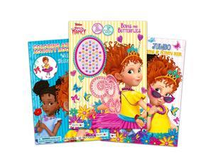 Disney Fancy Nancy Coloring Book Bundle ~ 3 Fancy Nancy Books, 160 Pages Total with Jewel Stickers and Temporary Tattoos (Fancy Nancy Party Pack)