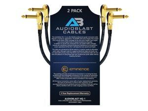 - Guitar Instrument Effects Pedal Patch Cable w//Eminence Straight /& Angled Gold ? inch Ultra Flexible HQ-1 20 Foot Audioblast 6.35mm 2 Units 100/% Dual Shielded TS Plugs /& Double Stagger