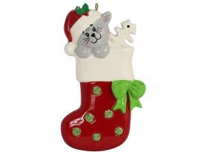 MAXORA Personalized Kitty Stocking Presents for Christmas
